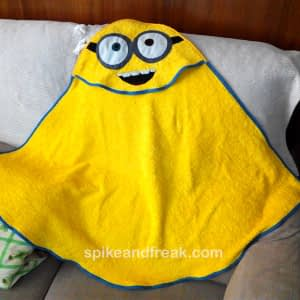 Minion Hooded Baby Towel
