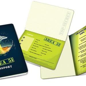 Cuaderno Area 51 Passport Notebook