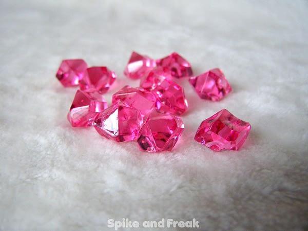 contadores piedras rosas transparentes
