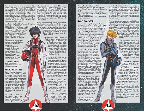 Robotech RPG - Interior personalidades
