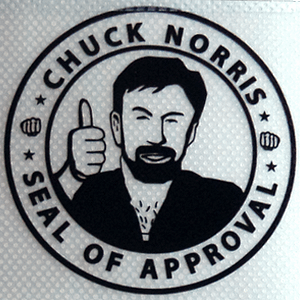 Pegatinas de vinilo transaparente Chuck Norris Meme