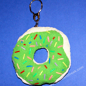 Llavero Donut Verde Tela