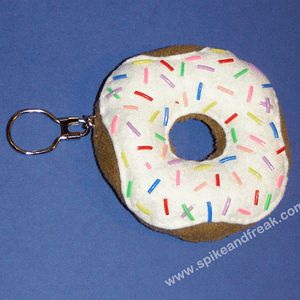 Llavero Donut Blanco Tela