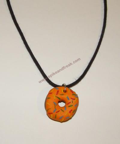 Colgante Donut Naranja